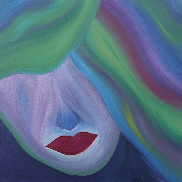 "Dream    24"" x 24""  Oil On Canvas      The mood this painting sends to the audience is the feeling of walking on a cloud, in a daze-like dreamscape. The unconscious haze of seeking a life of good fortune, love and happiness, followed by a series of thoughts, images and sensations occurring in a persons mind during sleep.  This piece invites a sense of wonder and a sweet aura of aspiration, admiration and serenity."