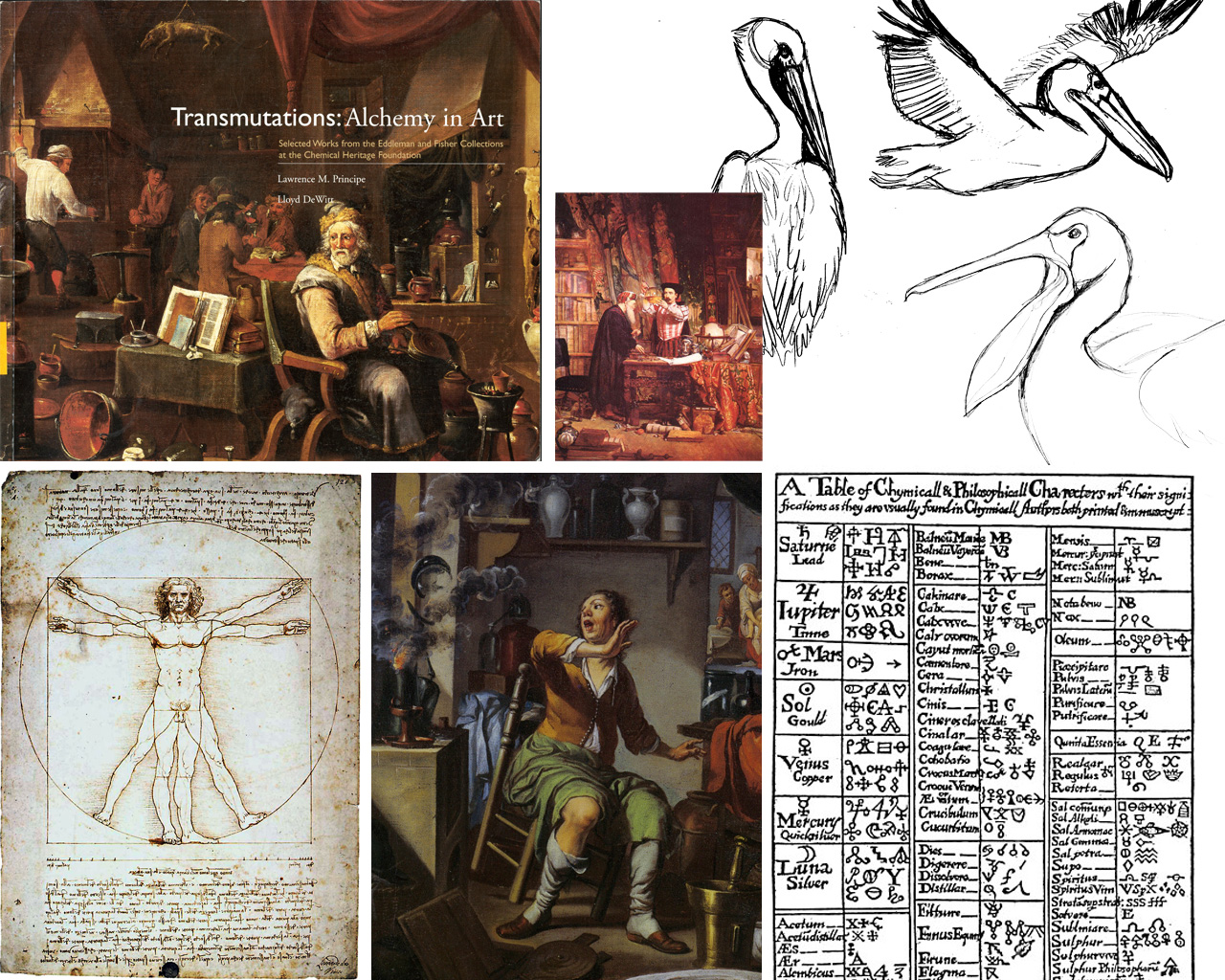 Some inspirational materials and early sketches