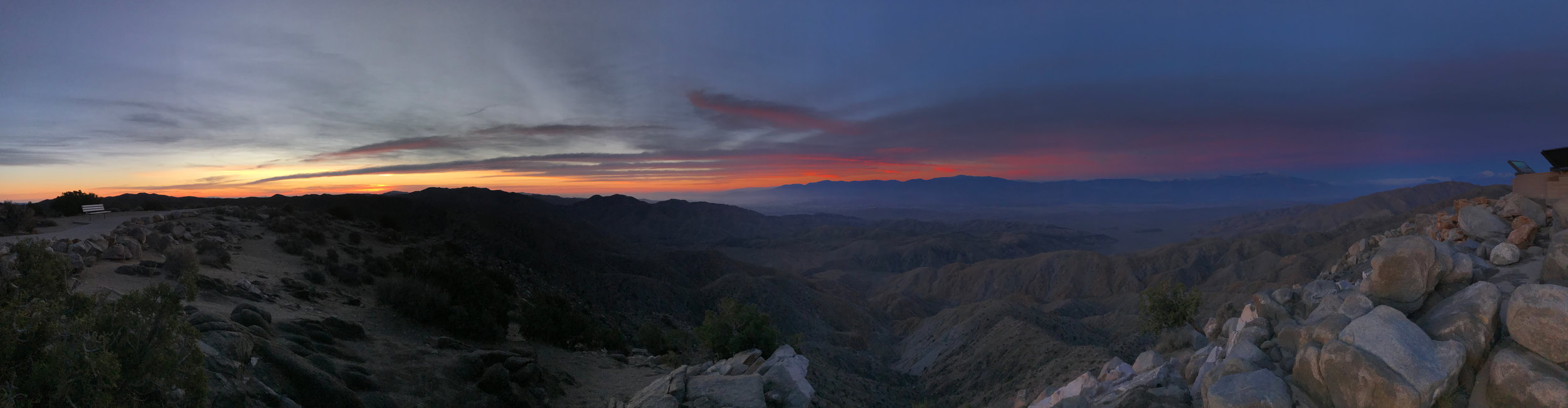 Sunrise from Keys Point   : a stunning vista overlooking the Coachella Valley. Snow-covered Mt. San Jacinto visible on the far right.