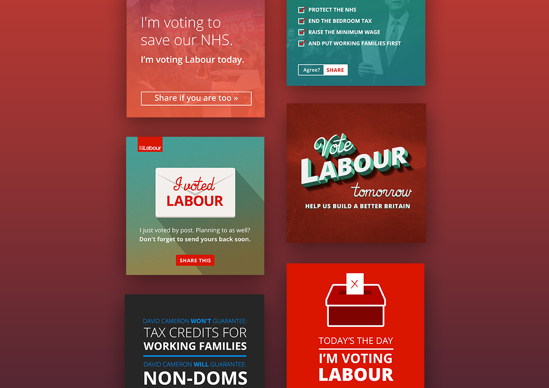 UK Labour Party 2015 General Election - I spent 6 weeks embedded with the Labour Party in London as their Digital Designer for the 2015 General Election.