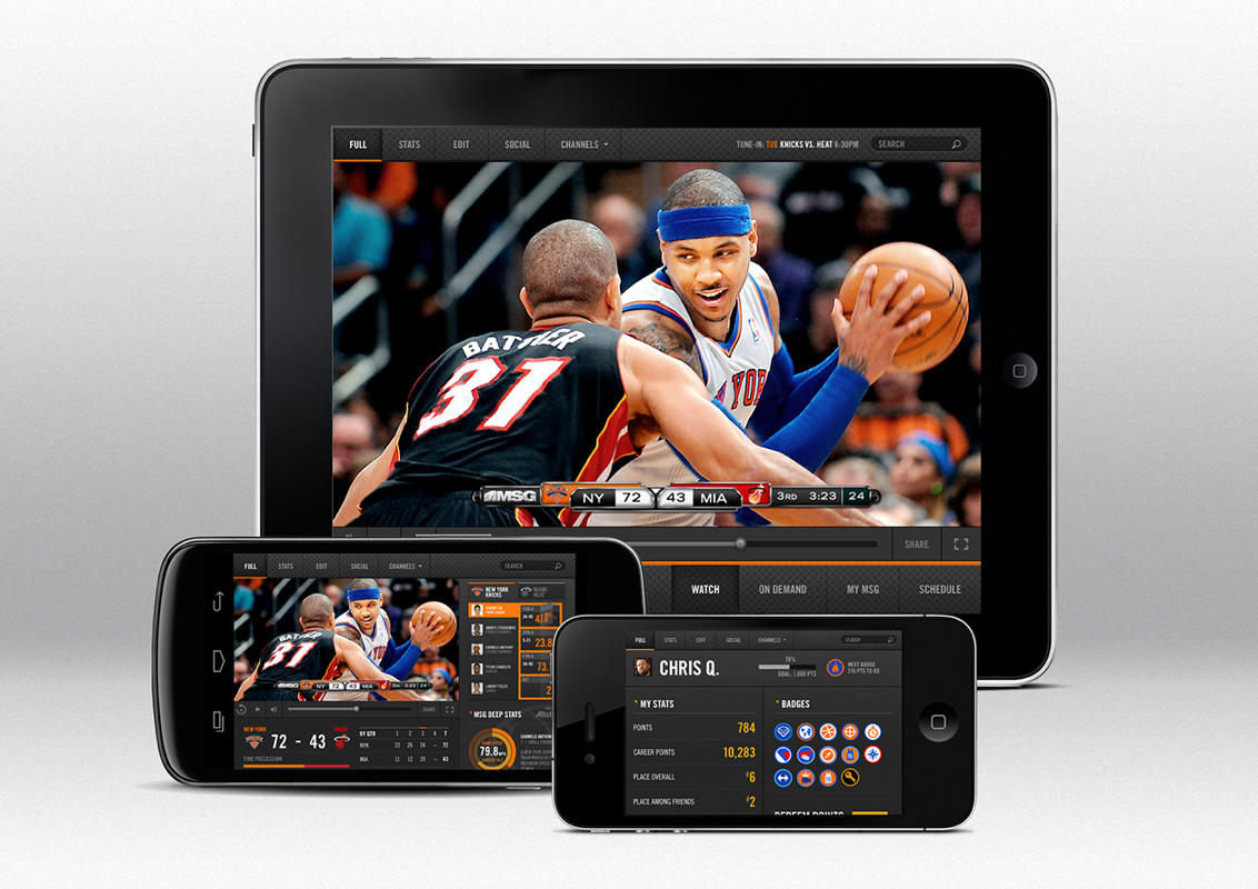 MSG Network mobile Livestreaming experience - Coming soon!