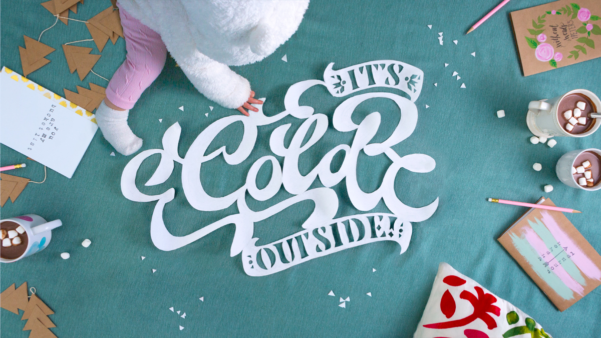 Baby it's Cold Dimensional Typography