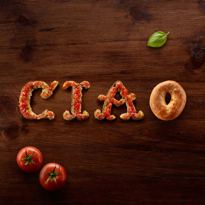 Food Typography + d'Italiano