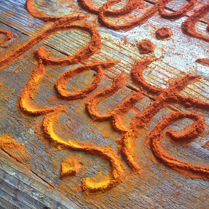 Spice Food Typography + FOUR