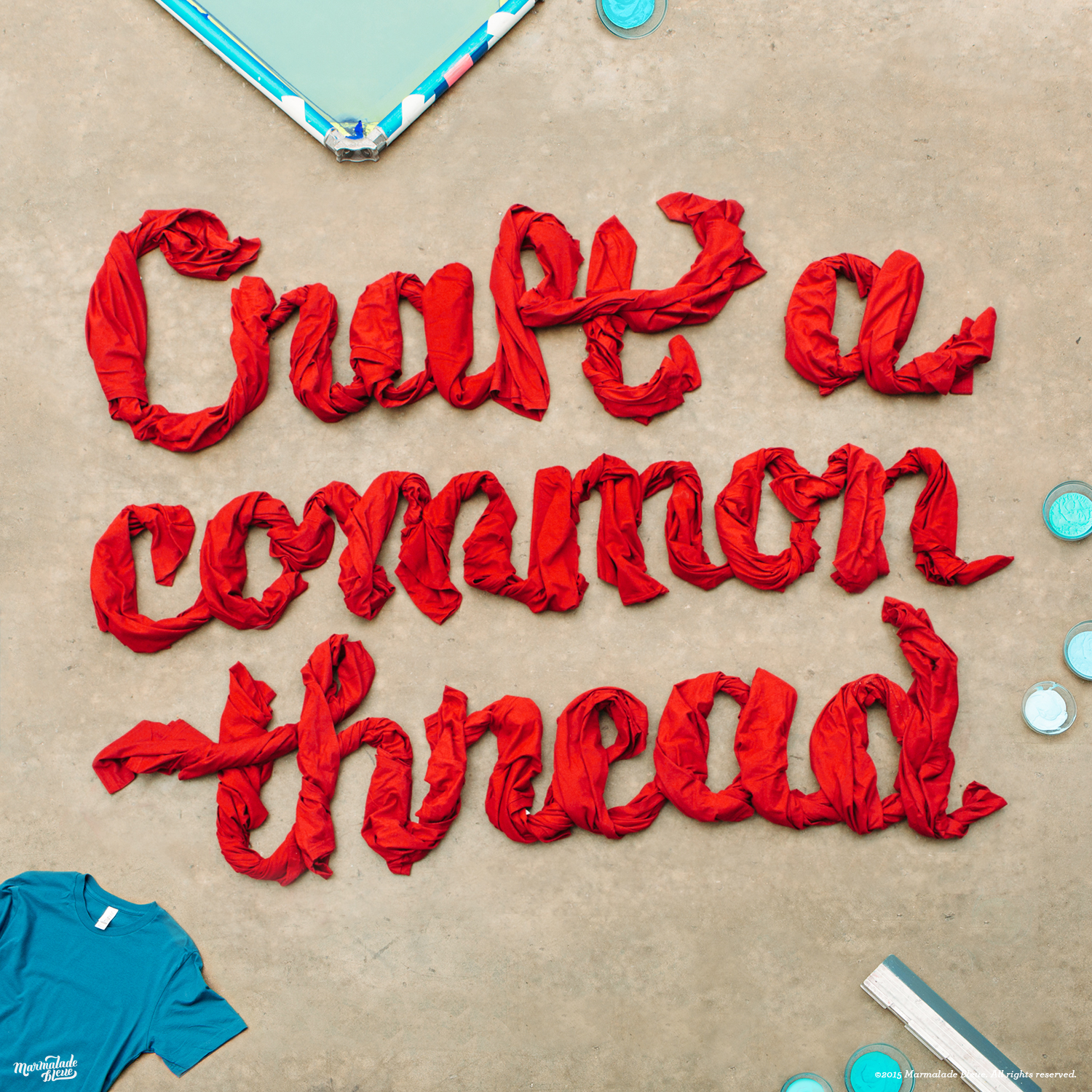 Real Thread + Dimensional Typography