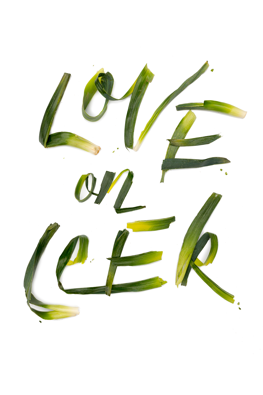 Food Lettering Valentines 2016
