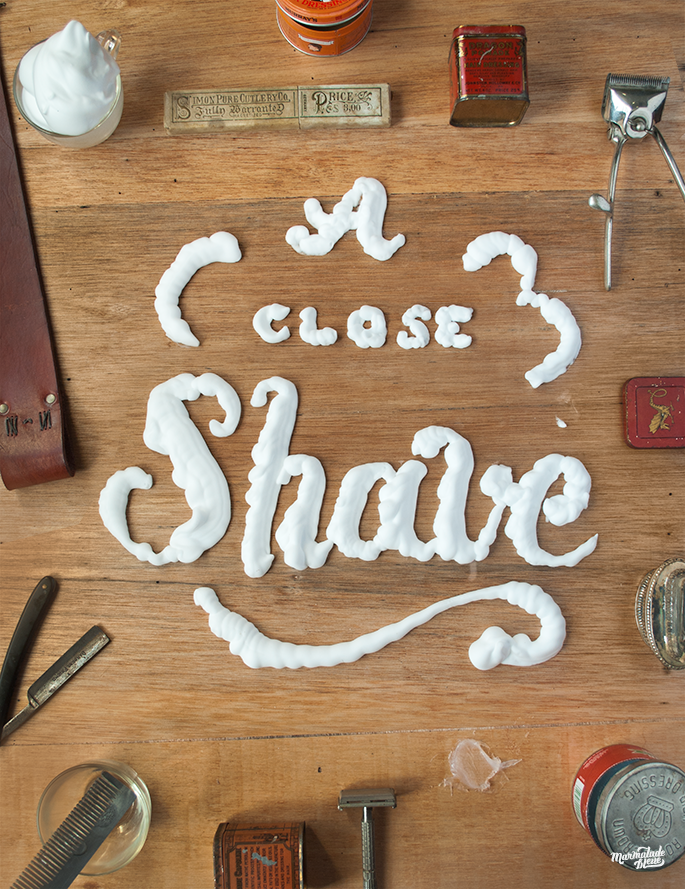 A Close Shave Dimensional Typography