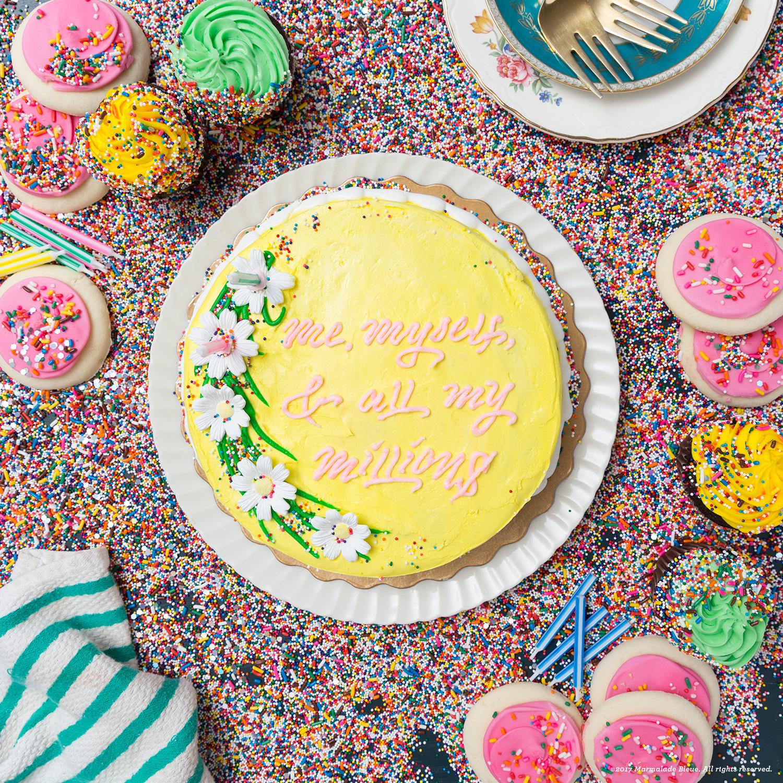 Food Typography + Drake on Cake