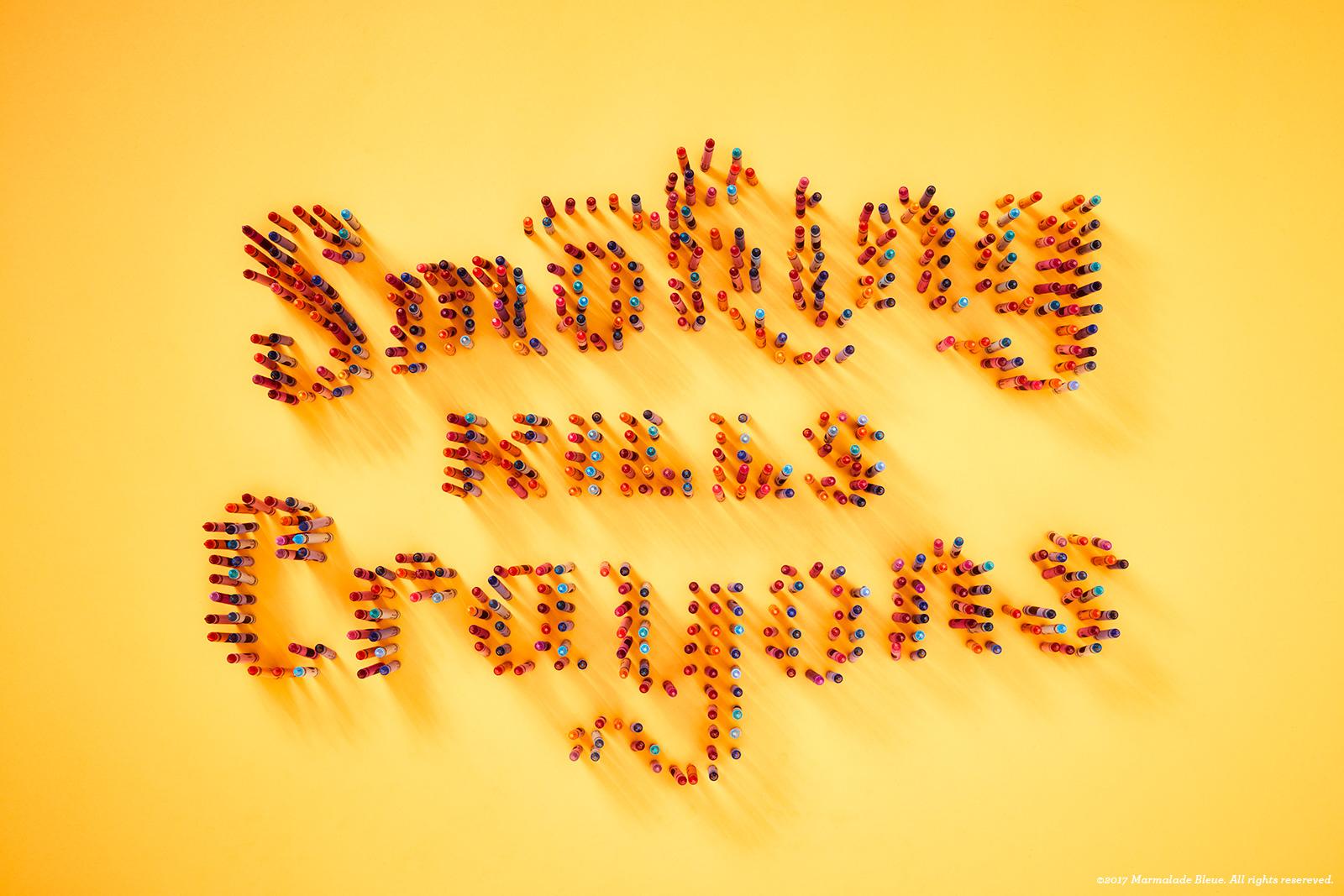 Anti-Tobacco Food Typography