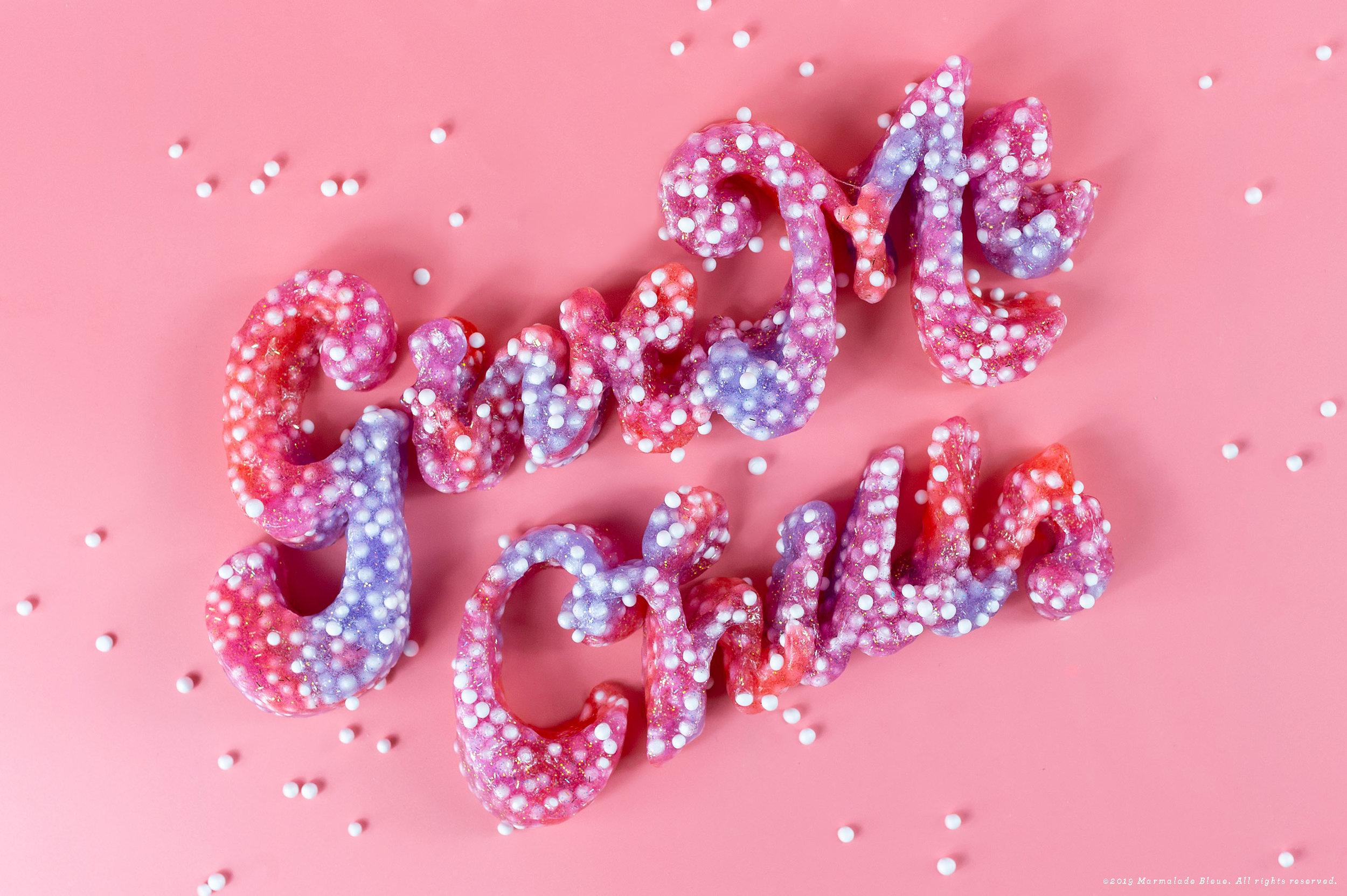 ASMR Dimensional Slime Lettering
