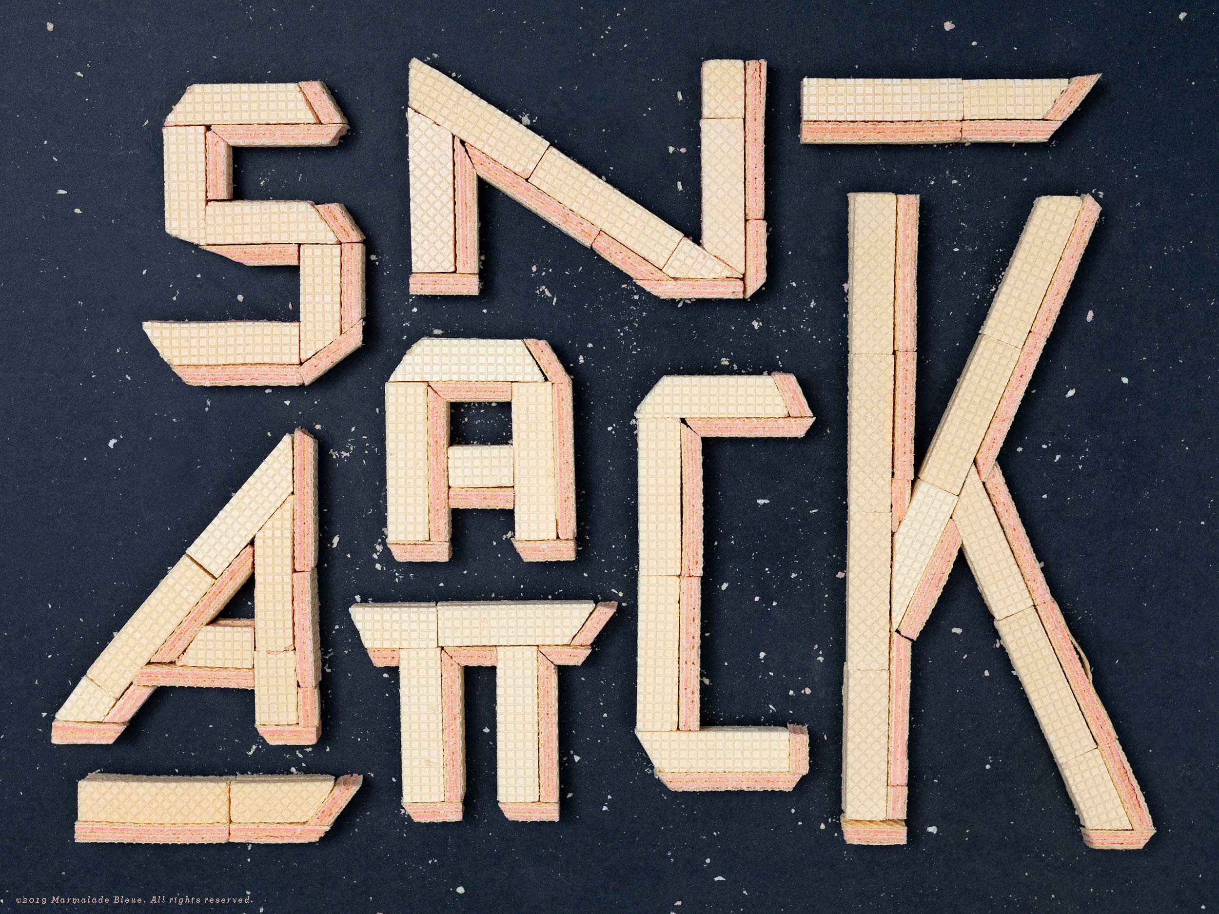 Snack Attack Food Typography