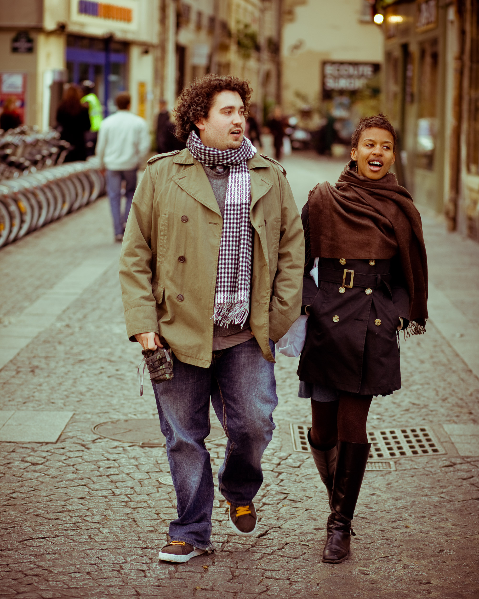 Blazey and Marcia in the streets of Paris
