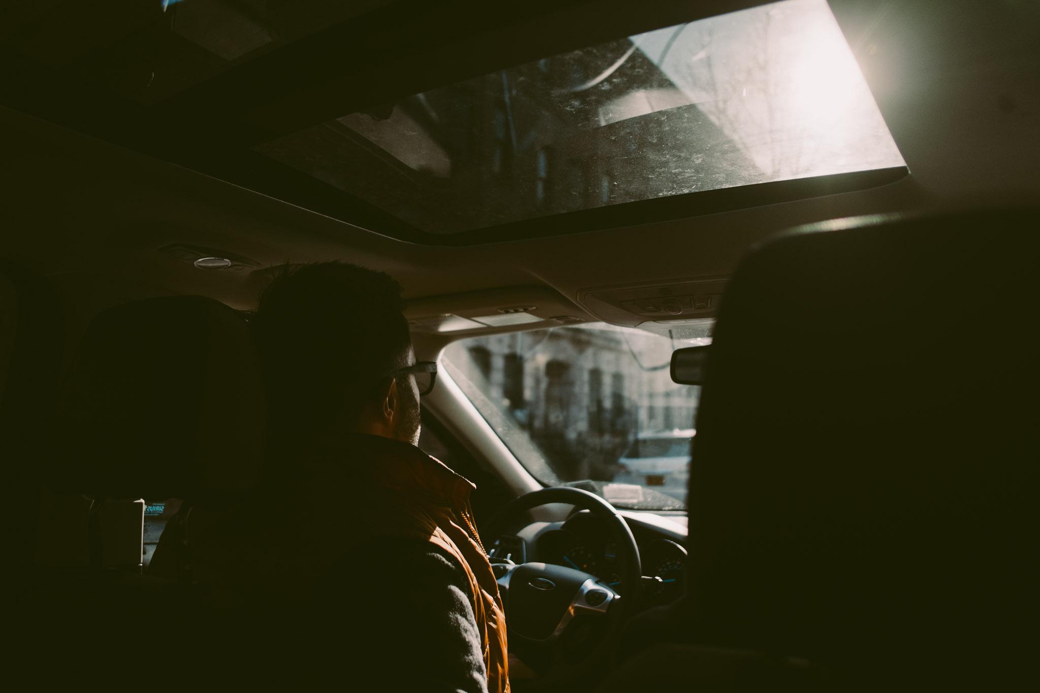Erik in car