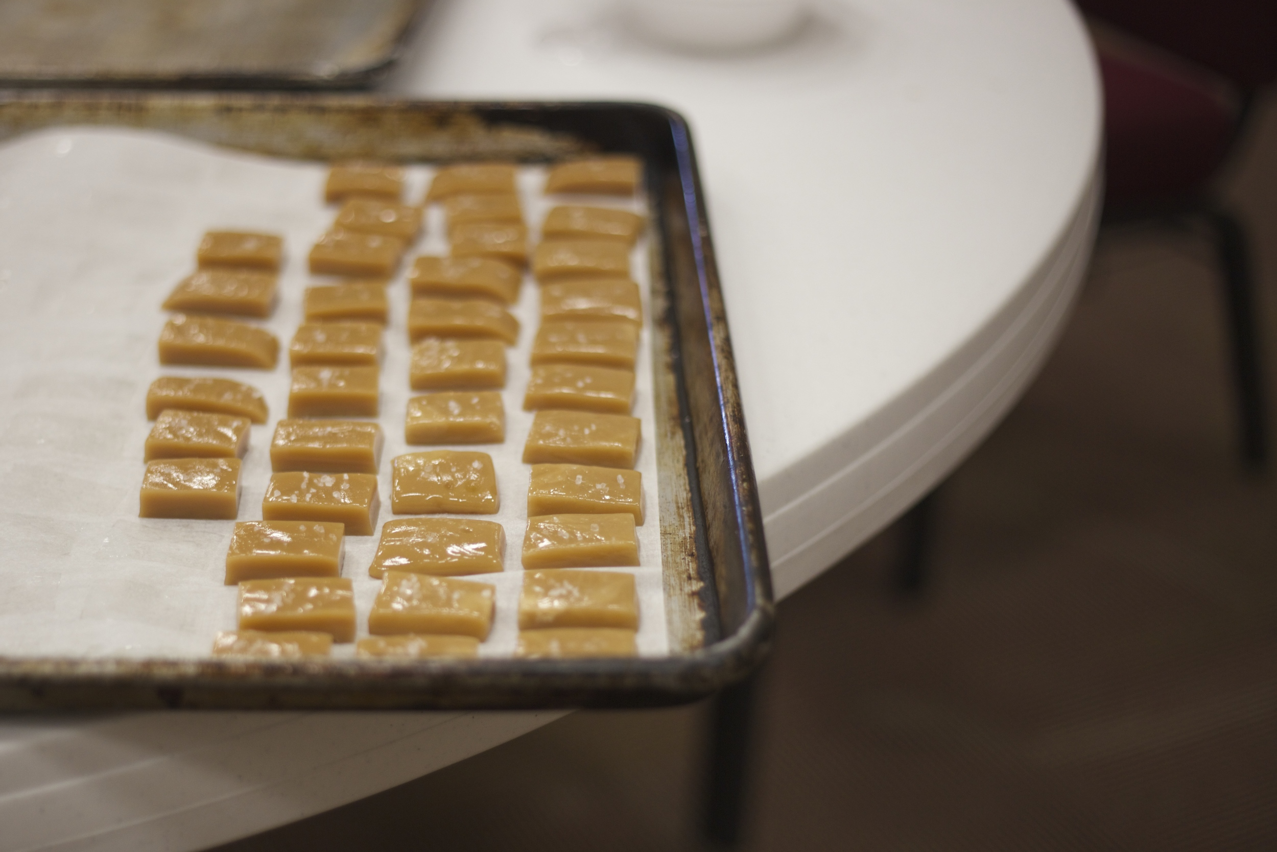 The now famous salted caramels!