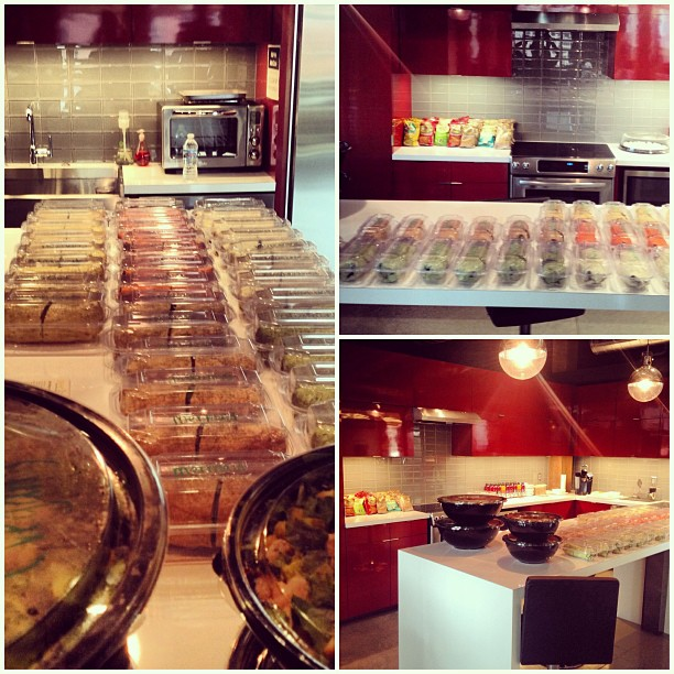 Catering on catering on #stlcatering down at @yurbuds! #stl #ecohealthy