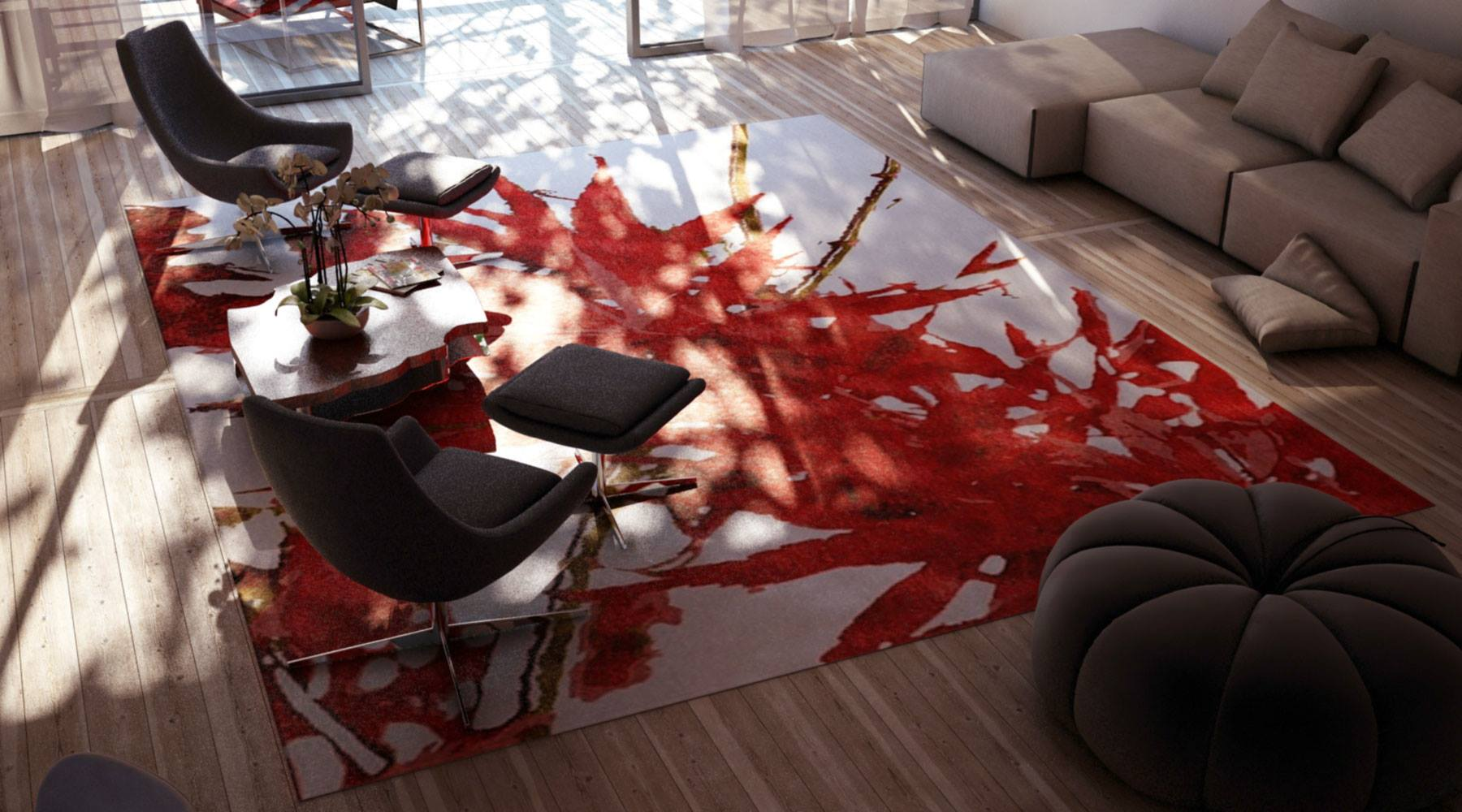 Red Maple Leaf rug