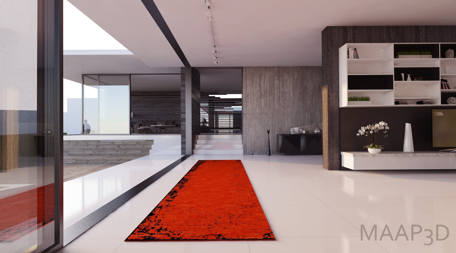 Custom Red Runner rendering by Adrade Architecture