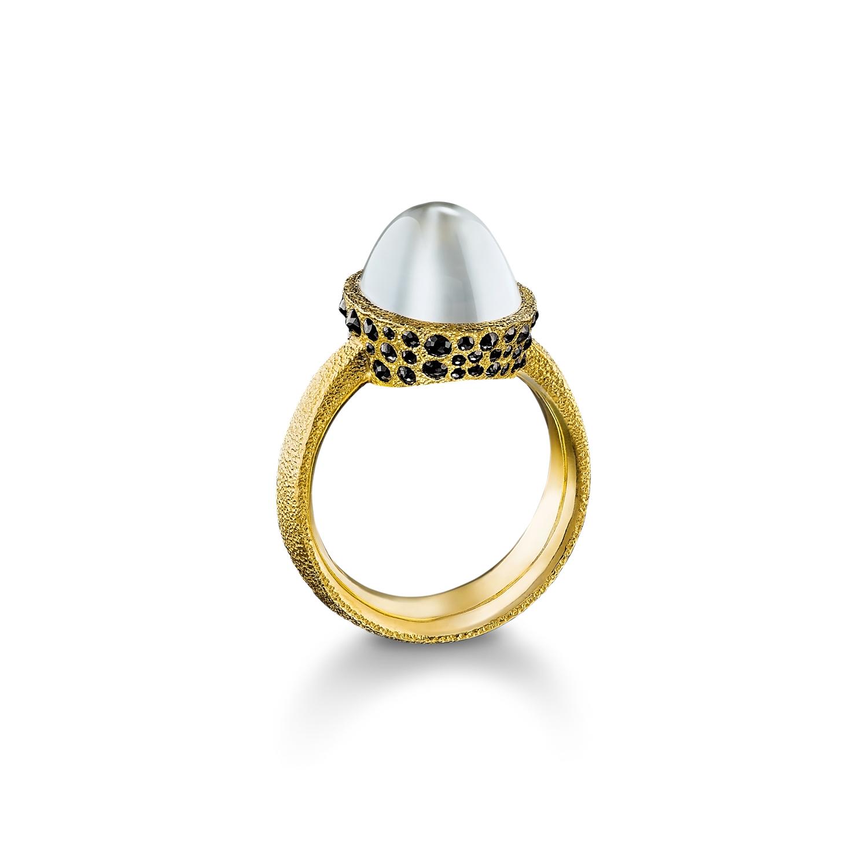 Burmese Moonstone Ring