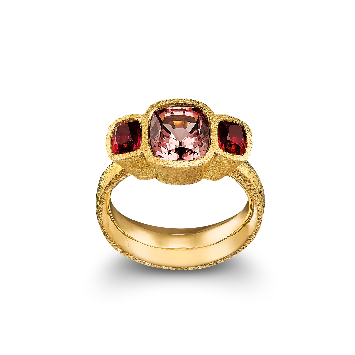 Cognac Spinel Ring