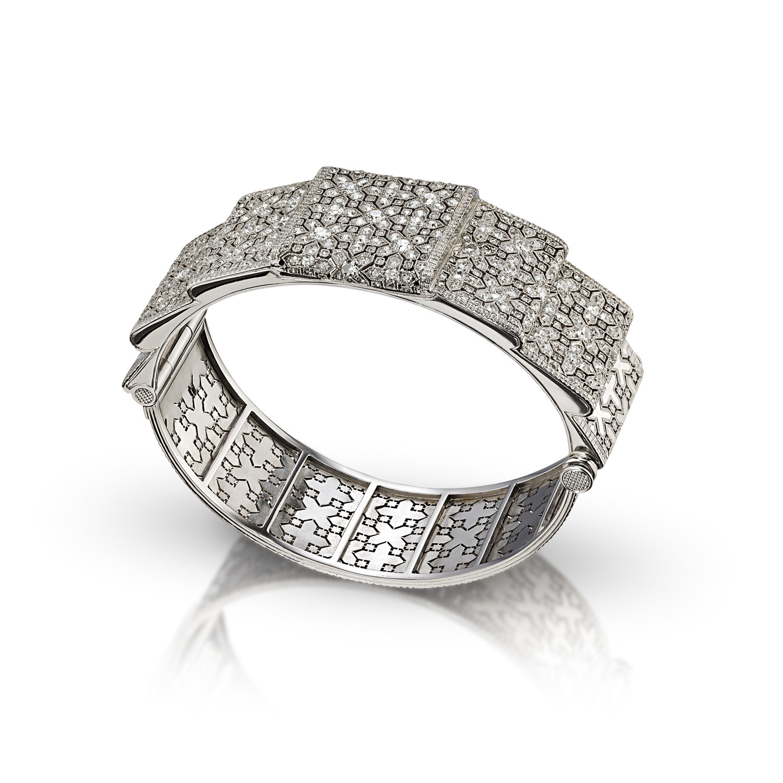 Platinum and Diamond Commission Bracelet
