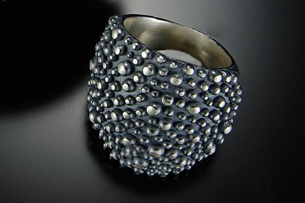Textured Silver Ring $285