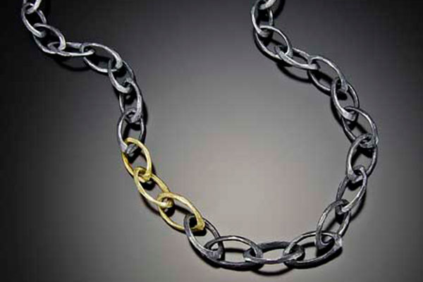 """36"""" Silver and 18K Gold Necklace $1690"""