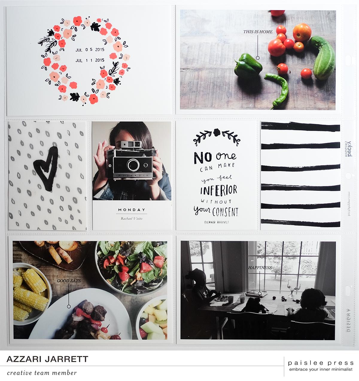 August Layouts with Paislee Press by Azzari Jarrett