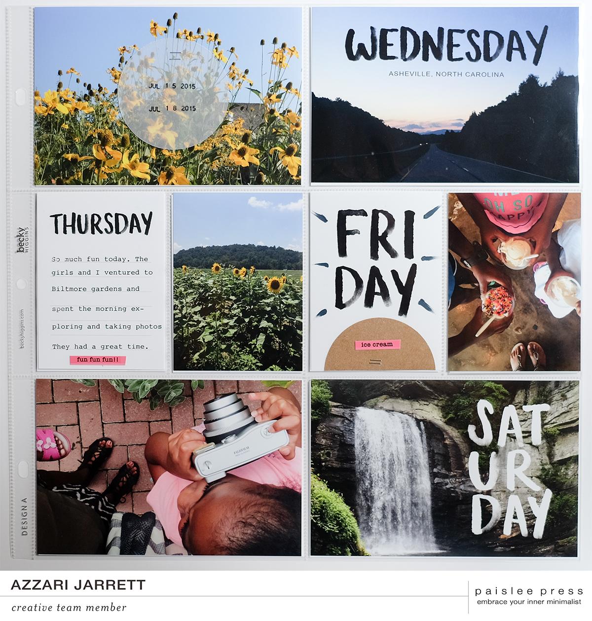 Paislee Press Days Project Life Layout by Azzari Jarrett