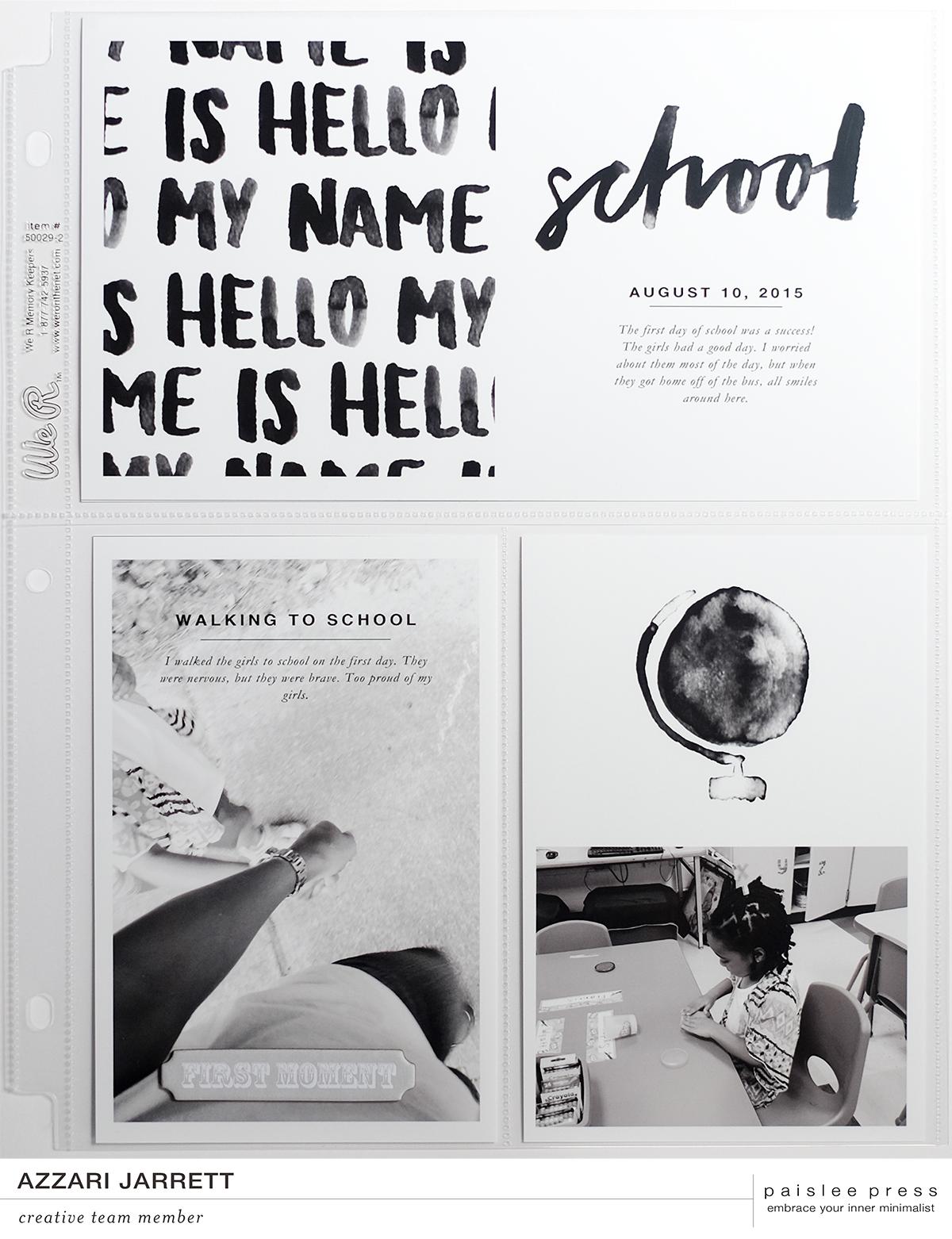 First Day of School Layout | Azzari Jarrett