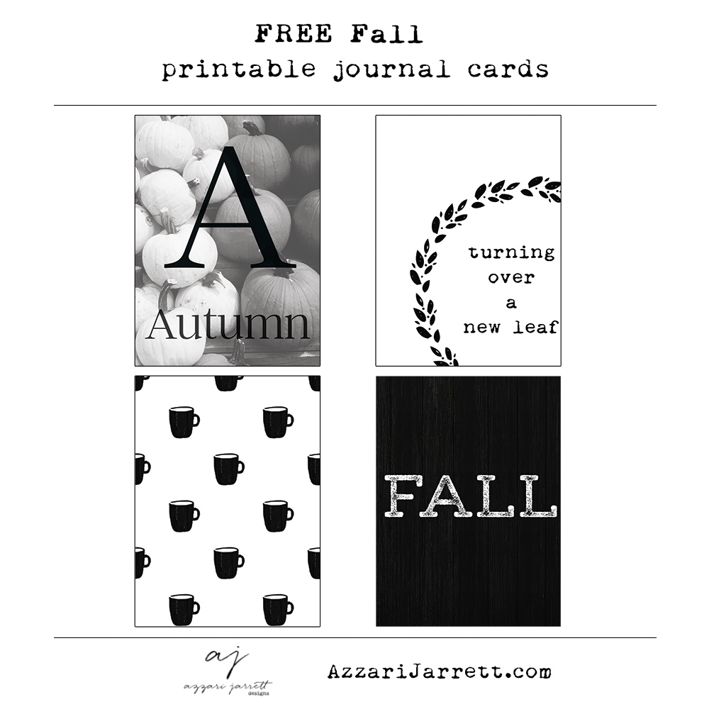 Free Fall Printable Journal Cards - Azzari Jarrett
