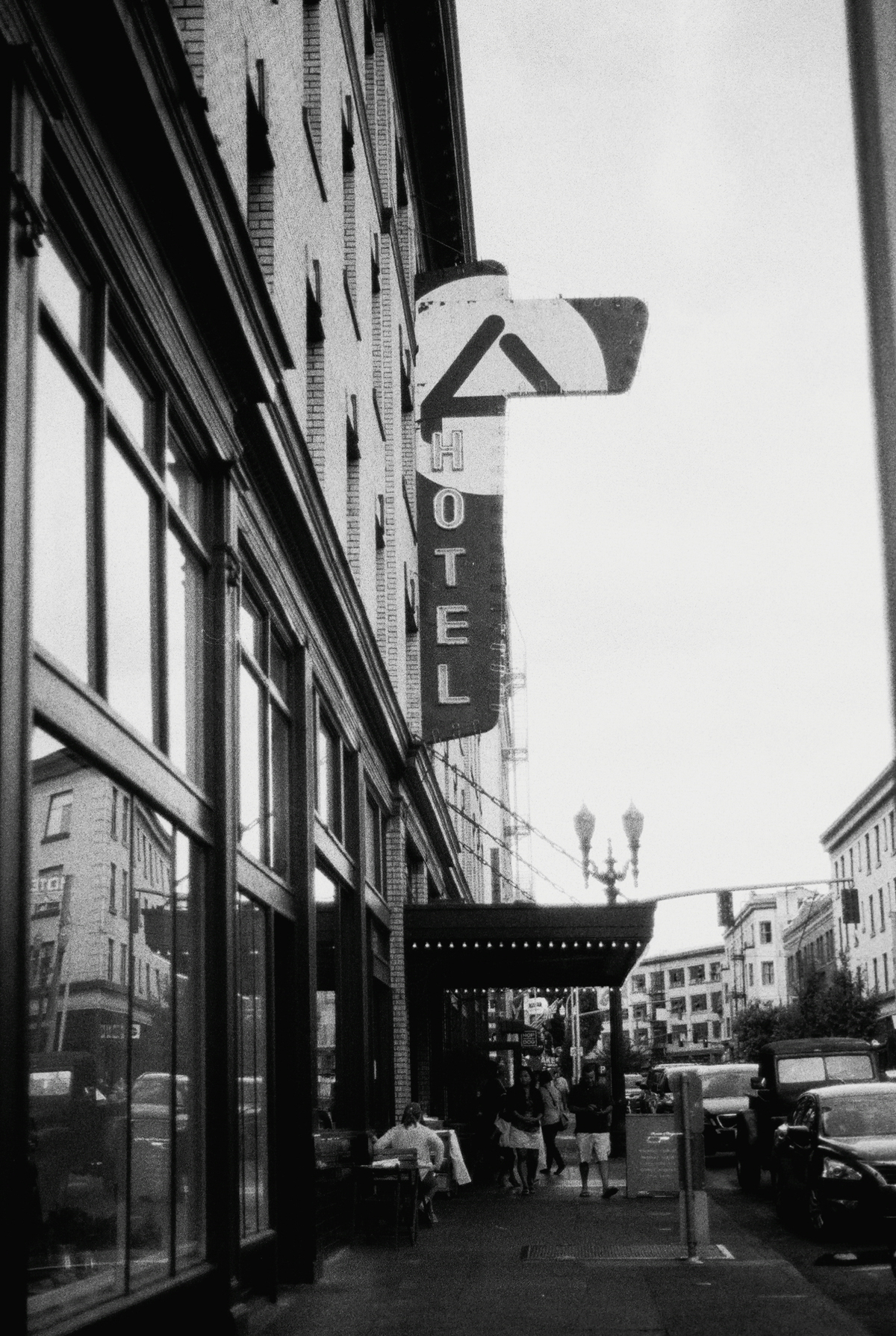 Ace Hotel Portland |Black and White Film Photography by Azzari Jarrett