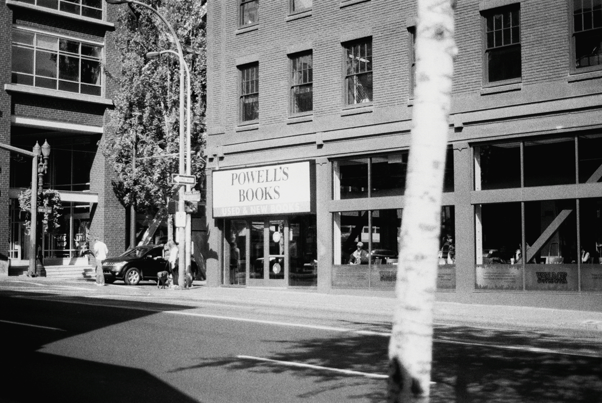 Powell's Books Portland |Black and White Film Photography by Azzari Jarrett