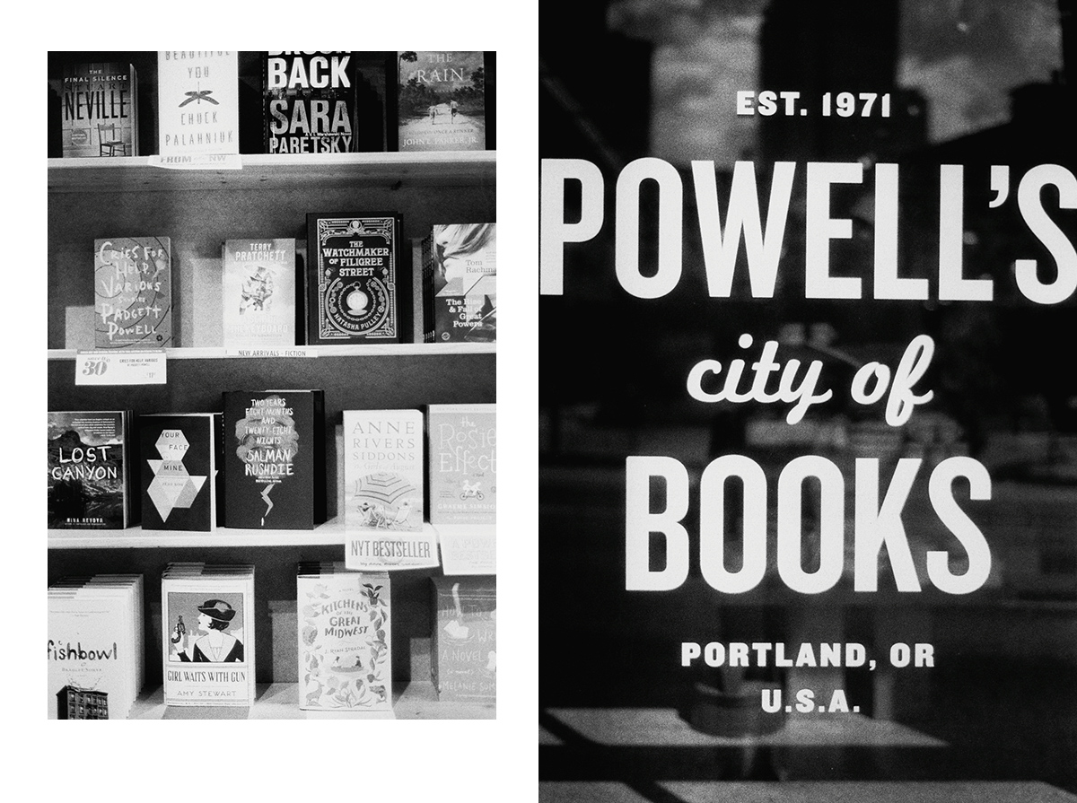 Powell's Books Portland | Black and White Film Photography by Azzari Jarrett