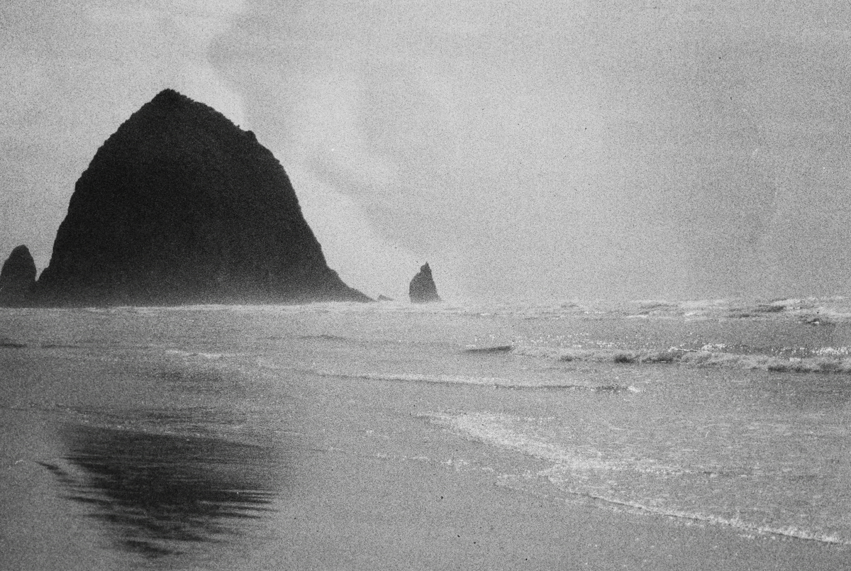 Cannon Beach, Oregon Coast | Black and White Film Photography by Azzari Jarrett