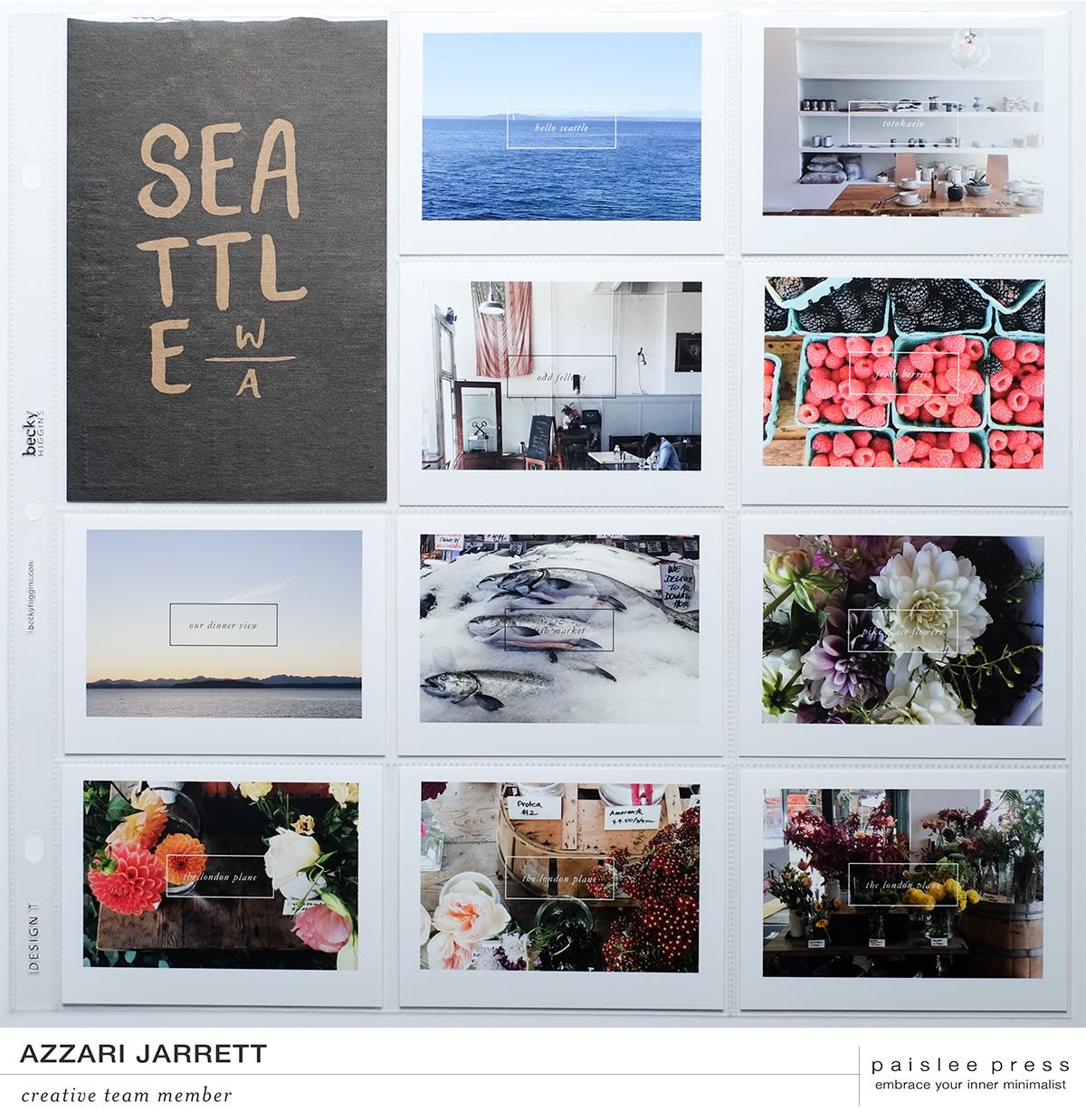 Seattle Project Life Layout | Azzari Jarrett