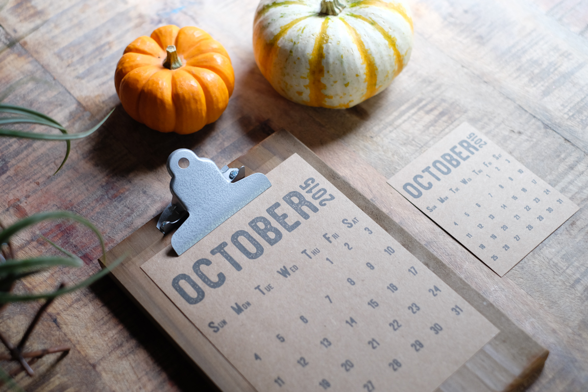 October 2015 Free Printable | Azzari Jarrett