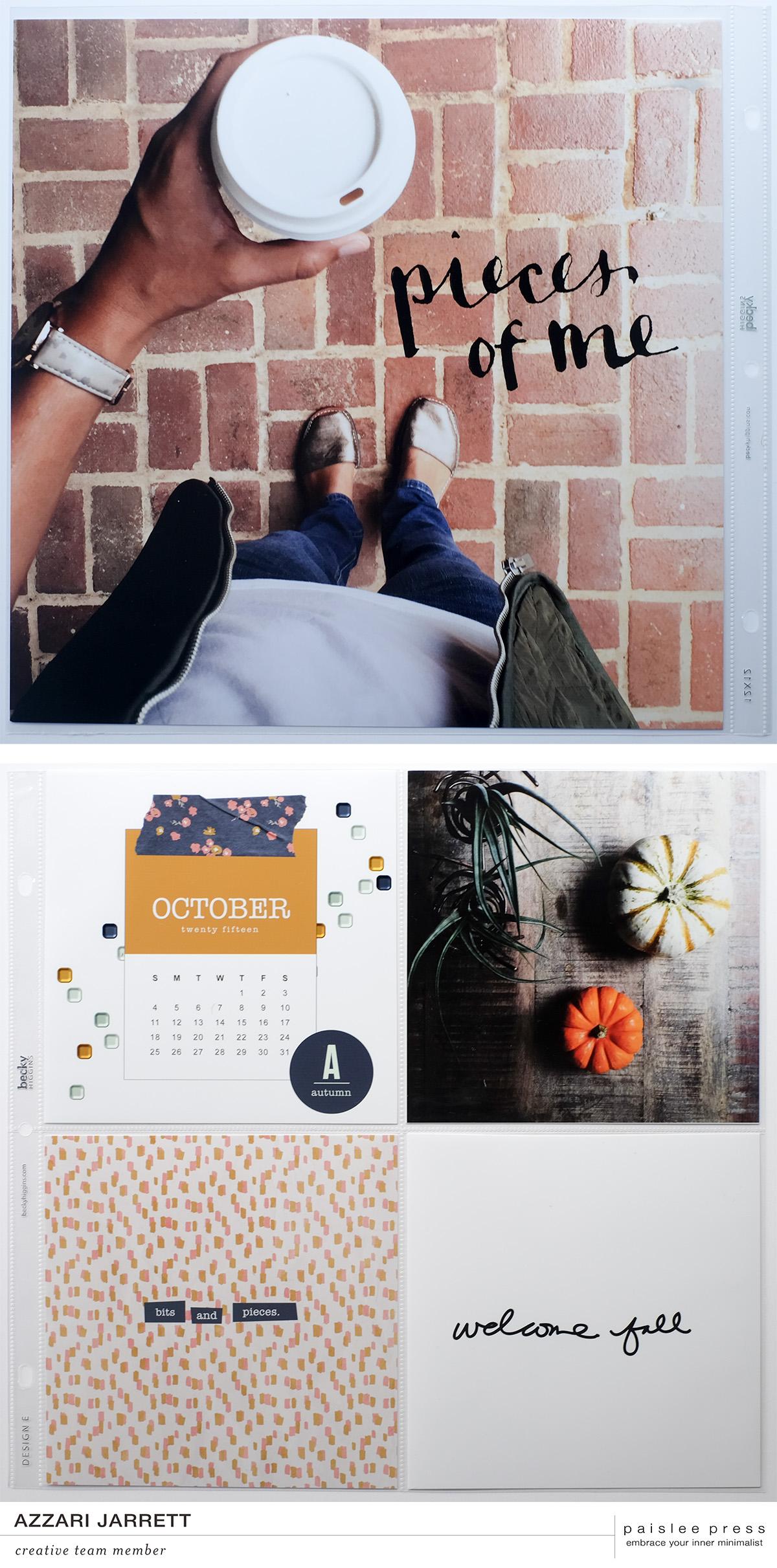 October Layouts with Paislee Press | Azzari Jarrett