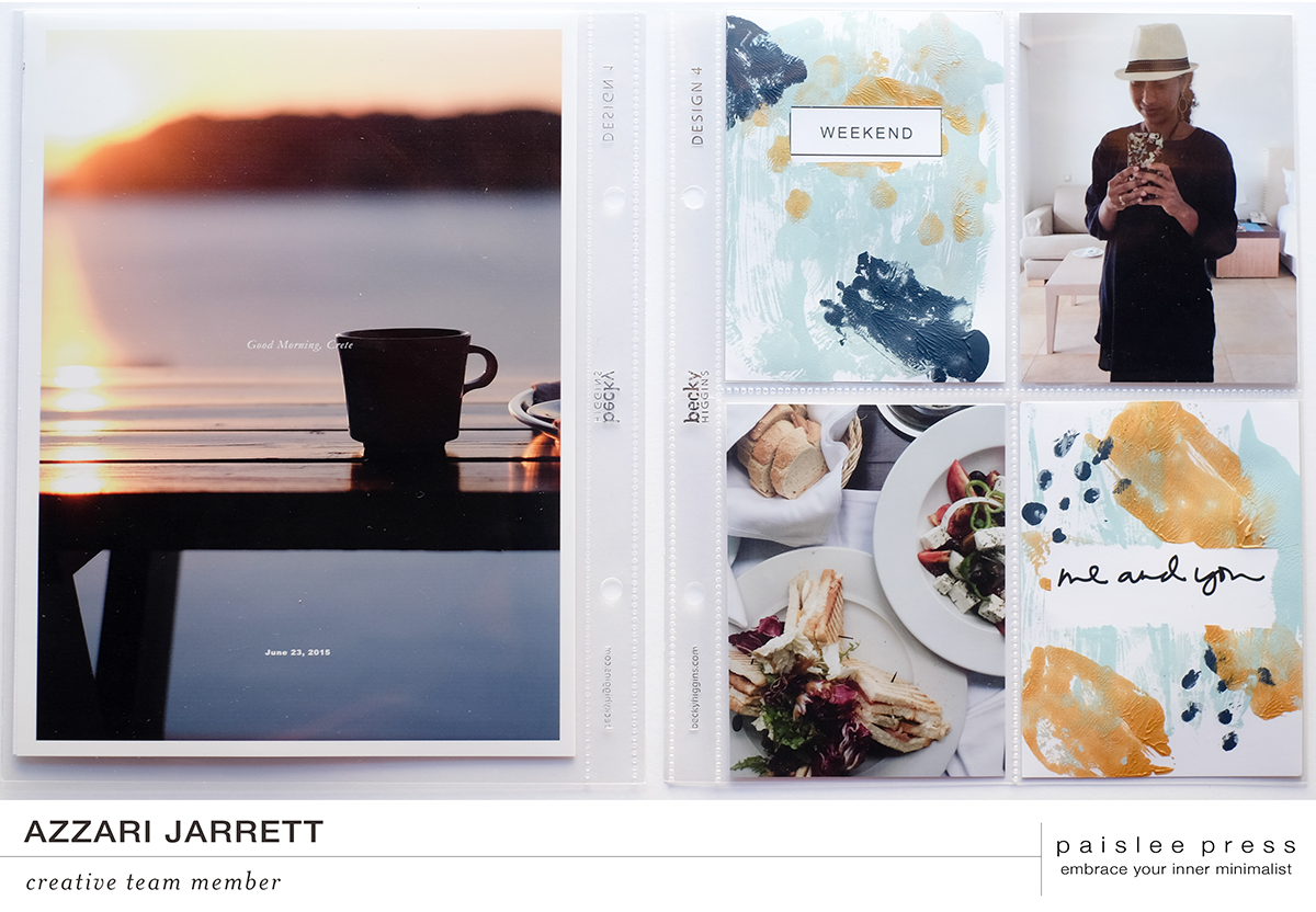 October Monthly Layout | Azzari Jarrett