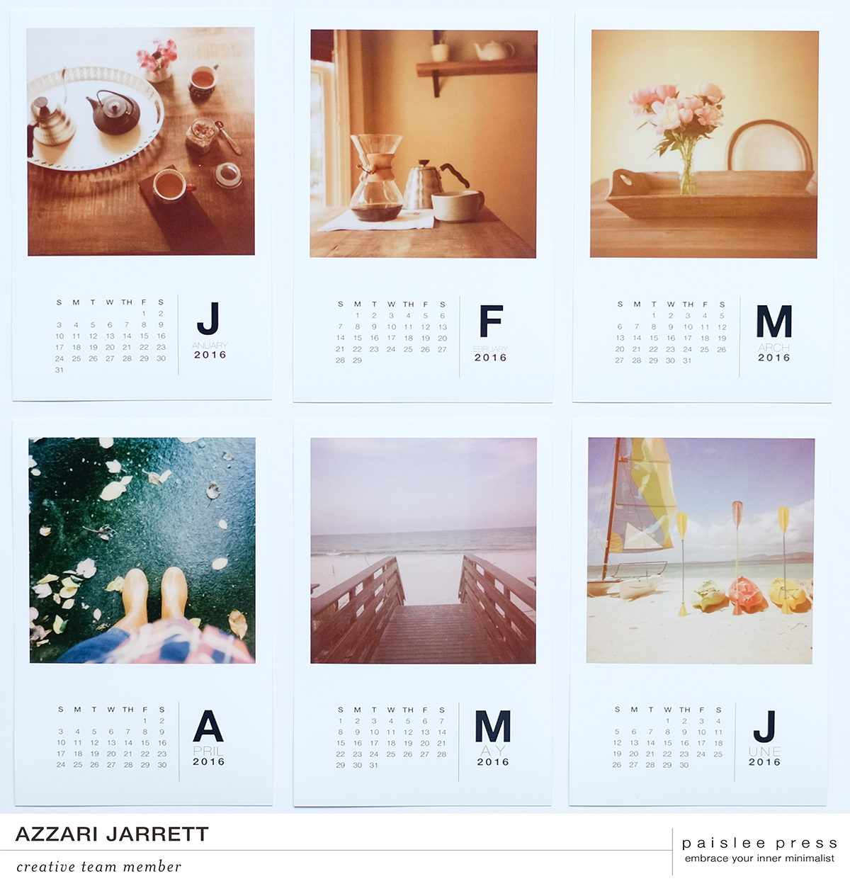 Paislee Press 2016 Calendar Kit | Azzari Jarrett