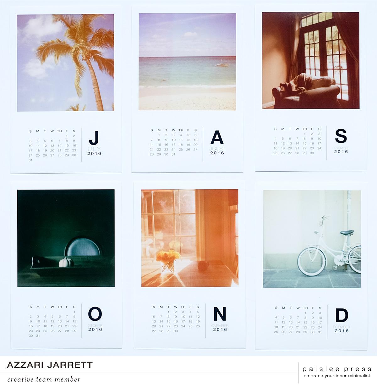 Paislee Press 2016 Calendar Kit | Azzari Jarrett