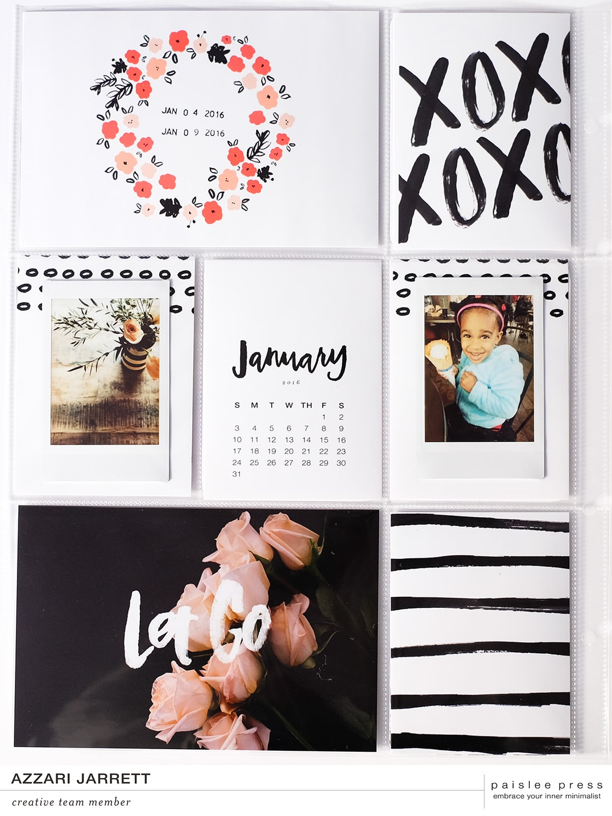 January Project Life Layout | Azzari Jarrett