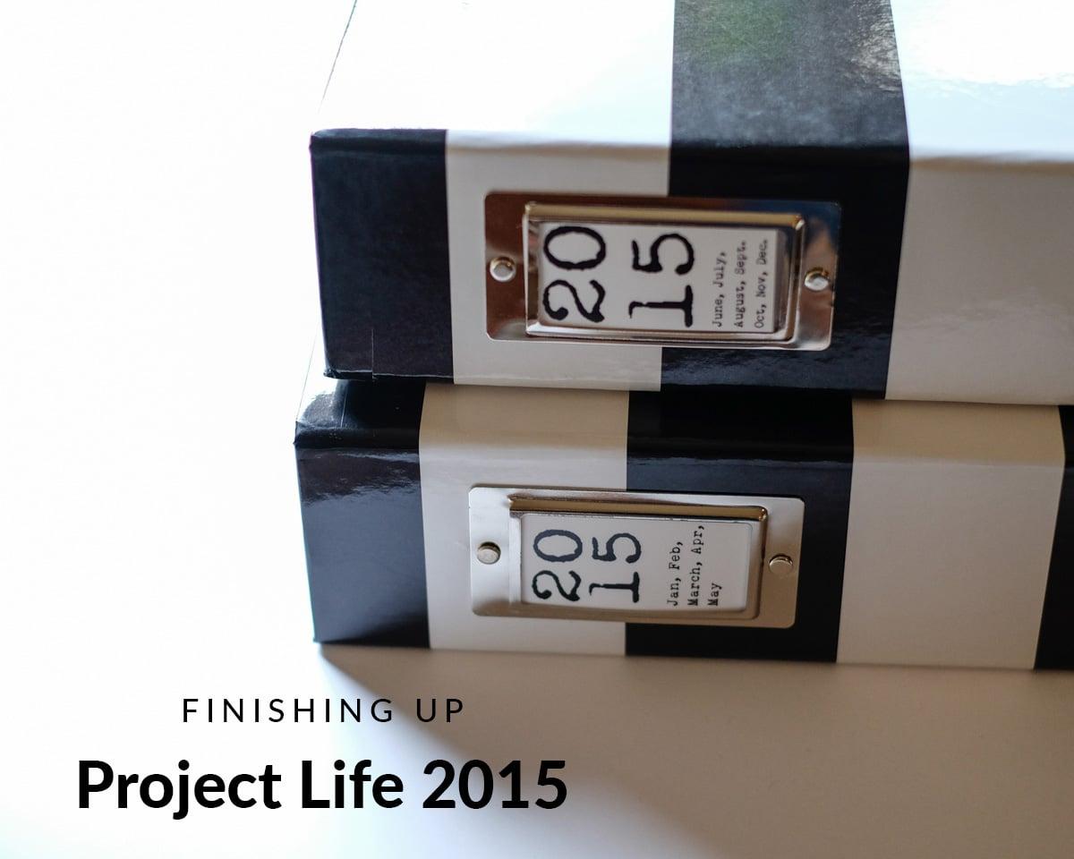 Finishing Up Project Life 2015 | Azzari Jarrett