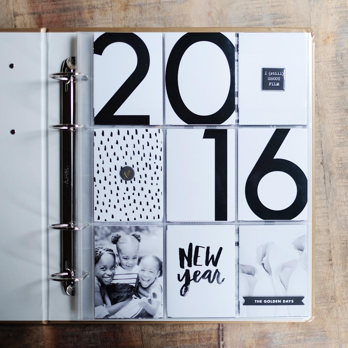 2016 Project Life Title Page 9x12 | Azzari Jarrett