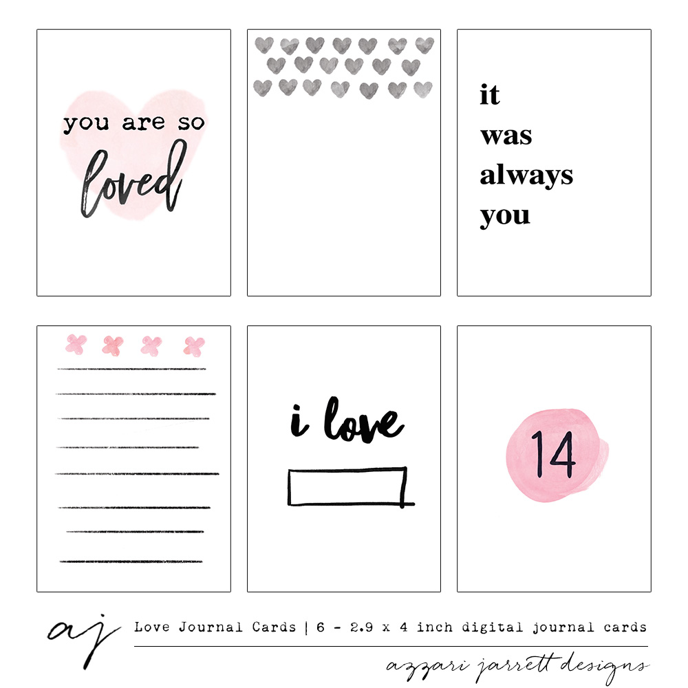 Azzari Jarrett Love Printable Journal Cards