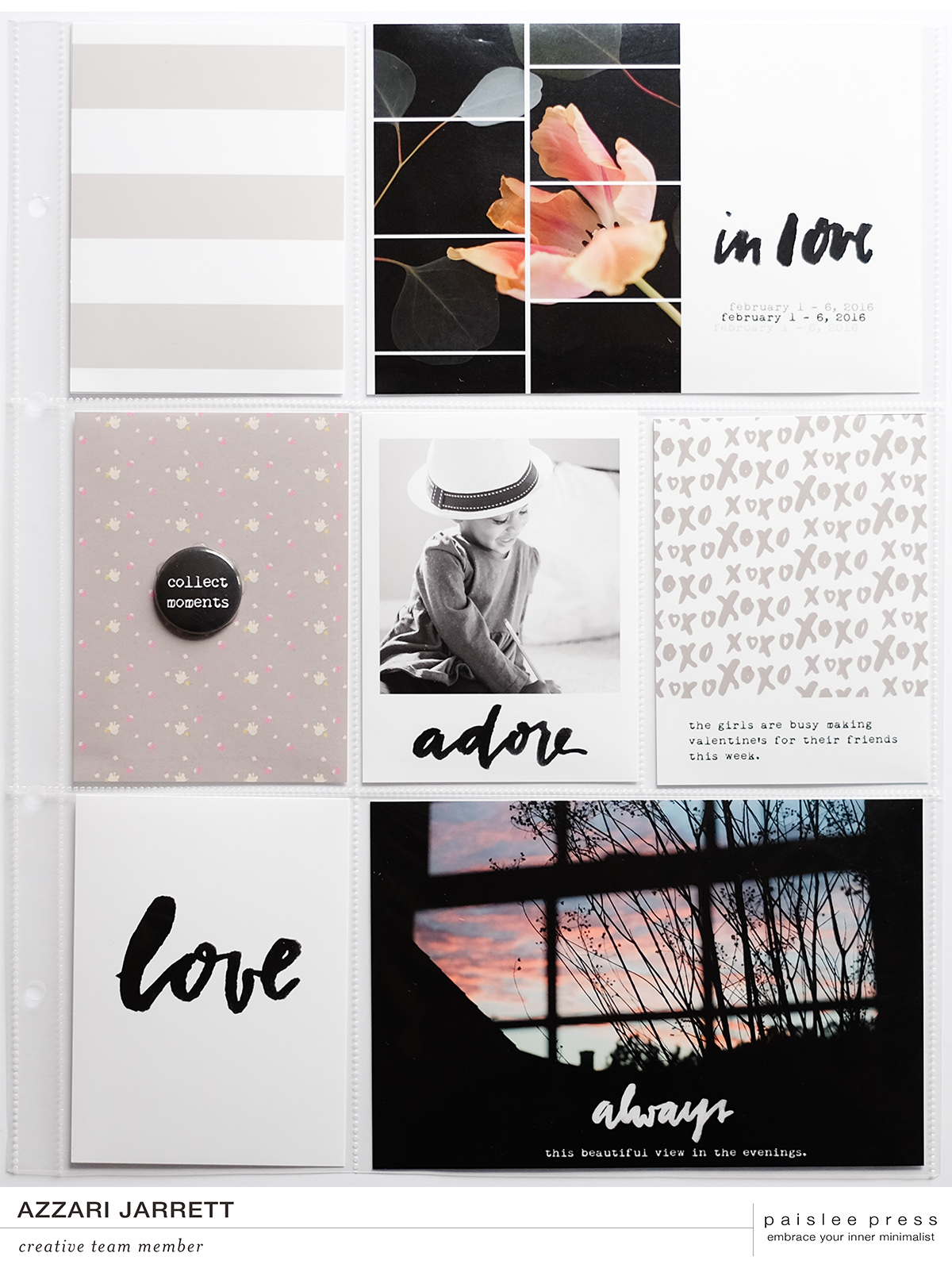 February Layouts with Paislee Press | Azzari Jarrett