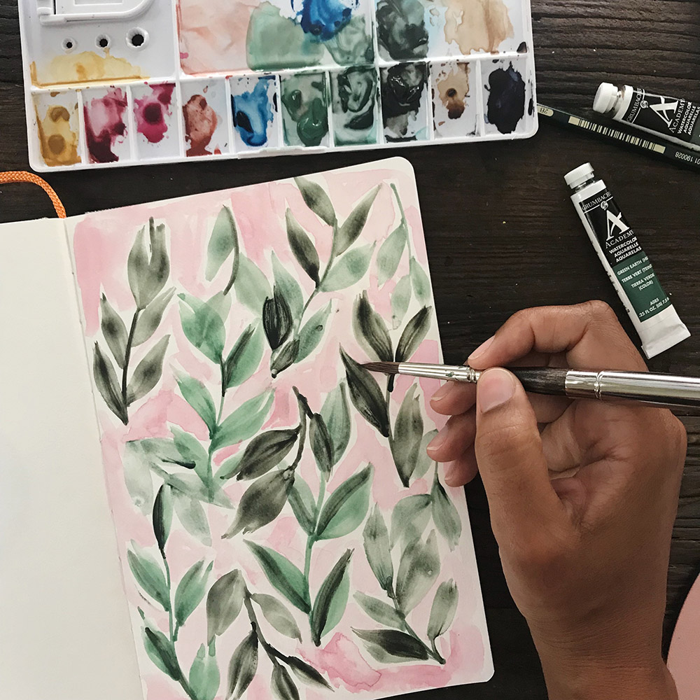 Azzari Jarrett | Watercolor Leaves