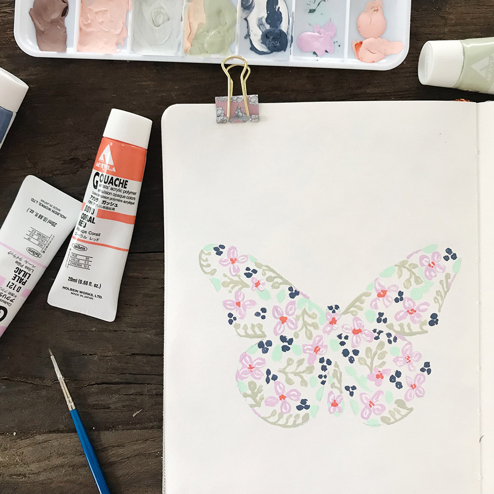 Azzari Jarrett | Gouache Butterfly