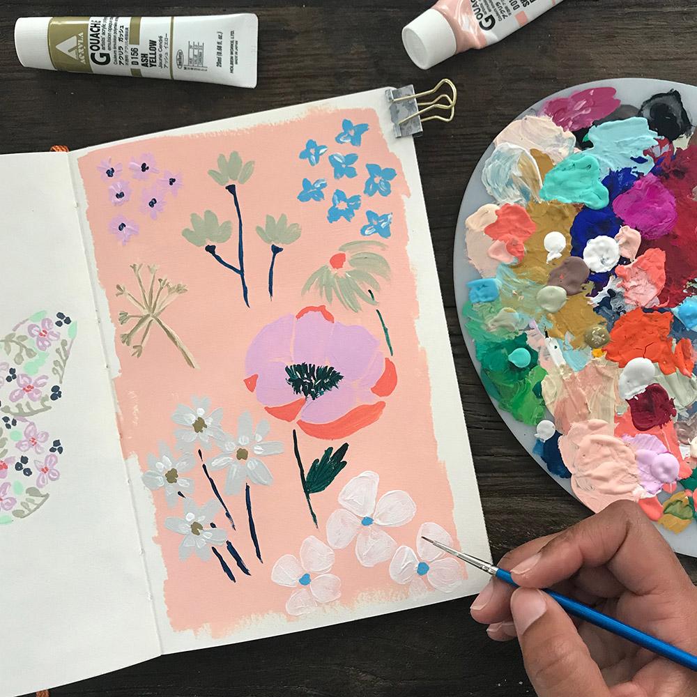 Azzari Jarrett | Gouache Floral
