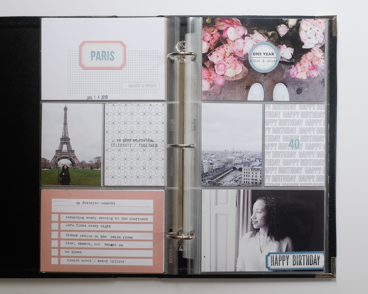 Azzari Jarrett | January Project Life Layouts | 6 x 12 layout