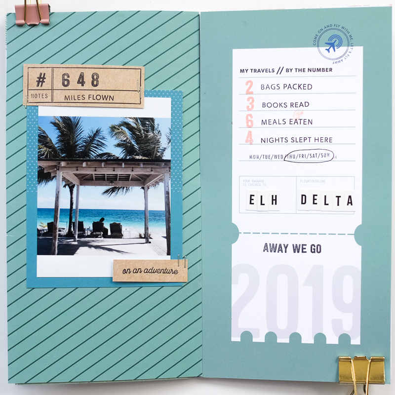 Azzari Jarrett Traveler's Notebook Layout | Kelly Purkey May 2019